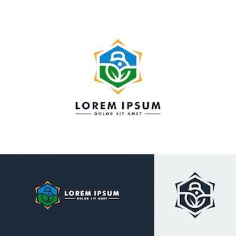 Modèle de logo de fitness gym, icône du sport