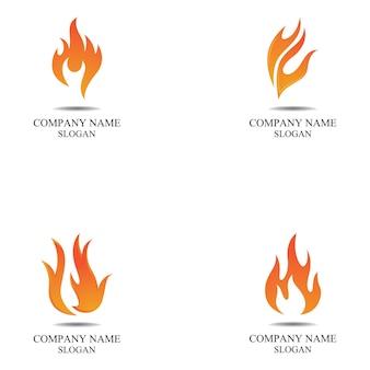 Modèle de logo de flamme de feu