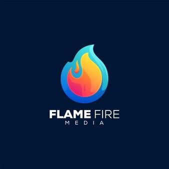 Modèle de logo de flamme