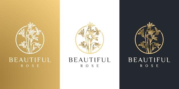 Modèle de logo de fleur abstraite