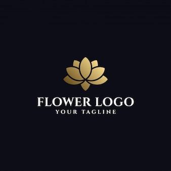 Modèle de logo de fleur de lotus élégant