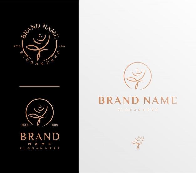 Modèle de logo fleur rose