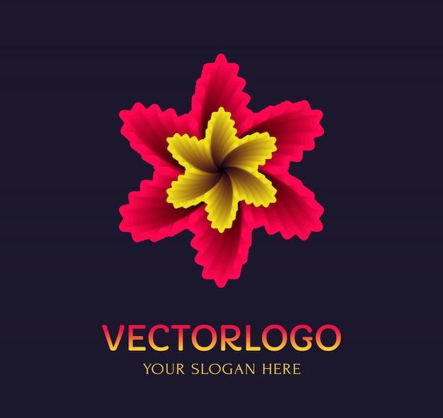 Modèle de logo de fleur. symbole de vecteur