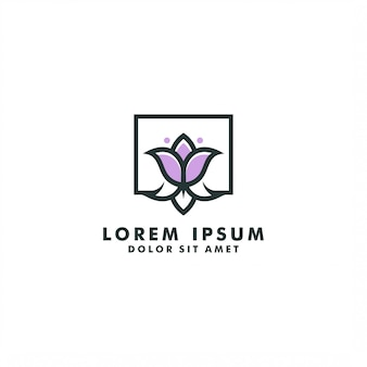 Modèle de logo de fleur, vecteur de conception de logo abstrait tulipe