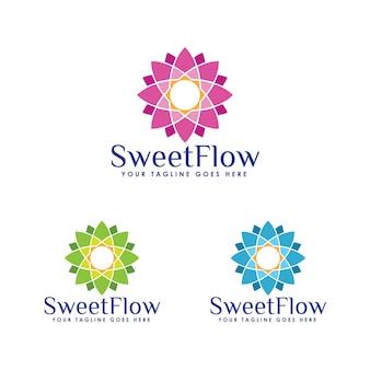 Modèle de logo floral
