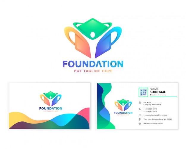 Modèle de logo de fondation communautaire créative pour entreprise