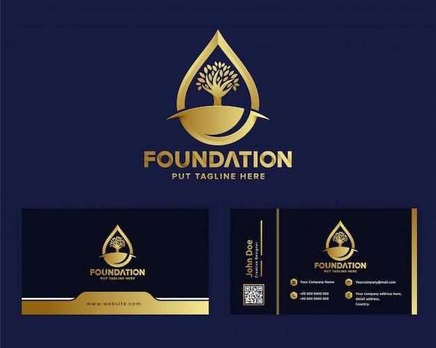 Modèle de logo de fondation de luxe premium