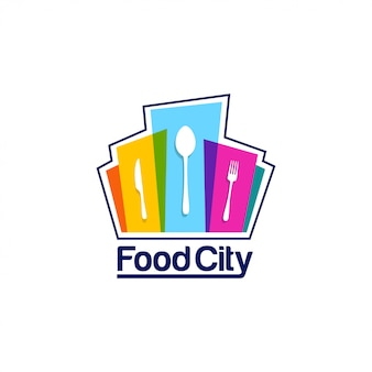 Modèle de logo food city