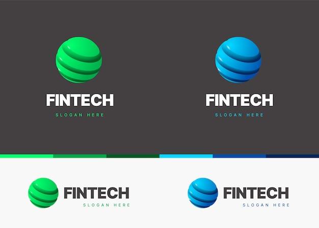 Modèle de logo avec forme abstraite de couleur dégradée
