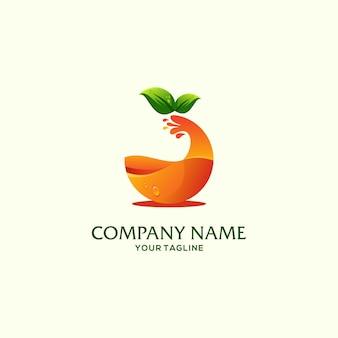 Modèle de logo de fruits