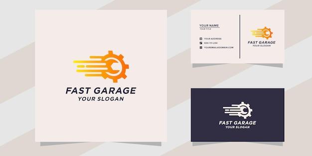 Modèle de logo de garage rapide
