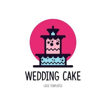 Modèle de logo de gâteau
