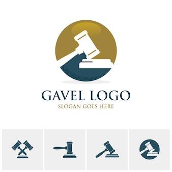 Modèle de logo gavel