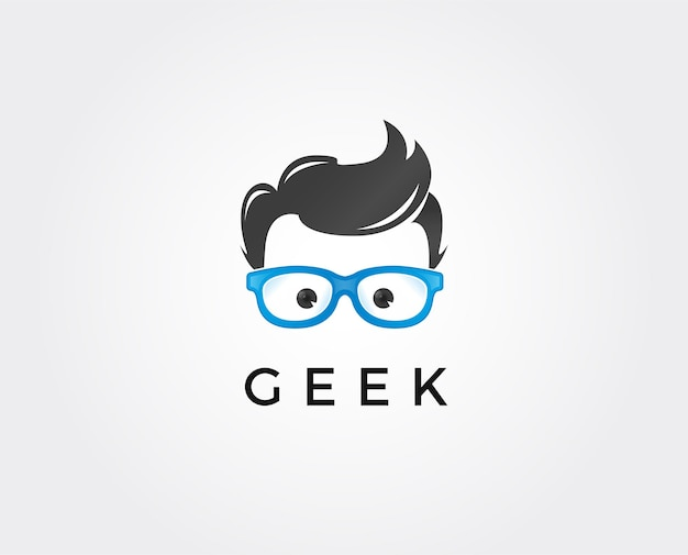 Modèle de logo geek, concept de design de logo creative geek