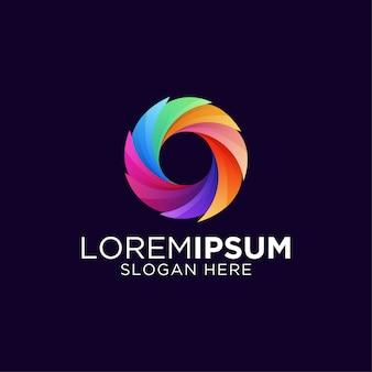 Modèle de logo génial lettre colorée o