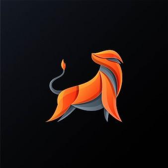 Modèle de logo génial taureau