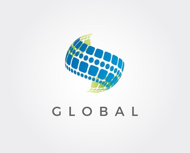 Modèle de logo global minimal