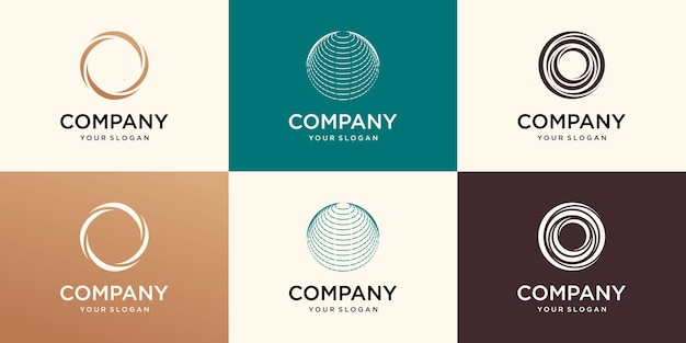 Modèle de logo globe business