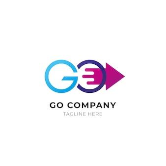 Modèle de logo go détaillé