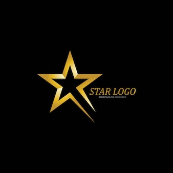 Modèle de logo gold star