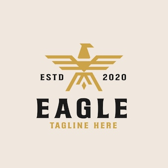 Modèle de logo golden eagle
