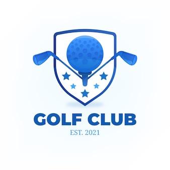 Modèle de logo de golf dégradé