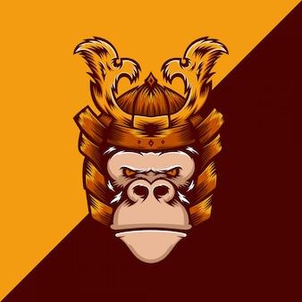 Modèle de logo gorille