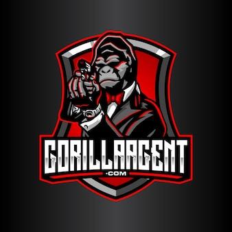 Modèle de logo de gorille