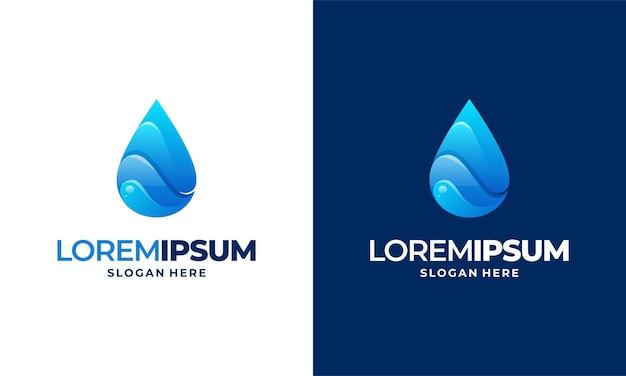 Modèle de logo de goutte d'eau de conception moderne
