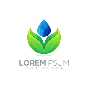 Modèle de logo goutte d'eau