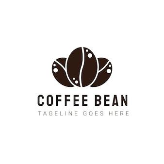 Modèle de logo de grain de café. étiquettes de café vintage modernes. illustration d'icône de vecteur