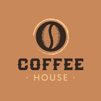 Modèle de logo de grain de café torréfié