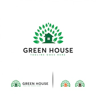 Modèle de logo green house