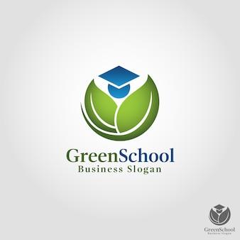 Modèle de logo green shool