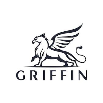 Modèle de logo de griffon