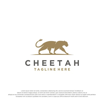 Modèle de logo de guépard