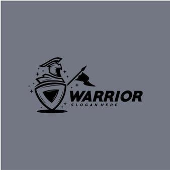 Modèle de logo guerrier