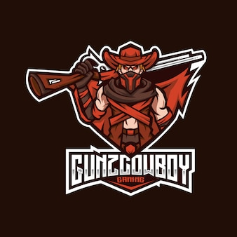 Modèle de logo gunz cowboy esport