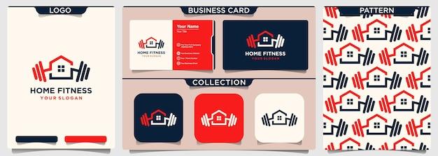 Modèle de logo de gym à domicile.