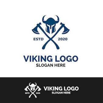 Modèle de logo hache viking