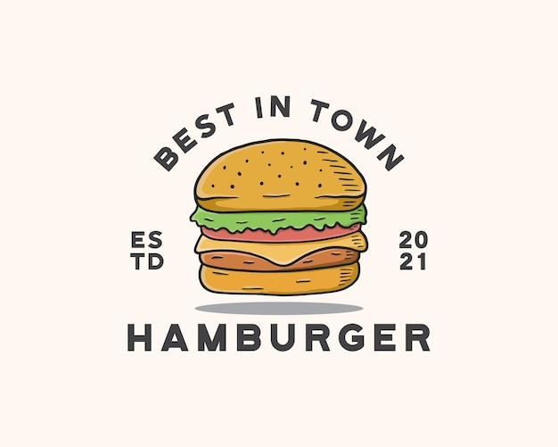 Modèle de logo de hamburger