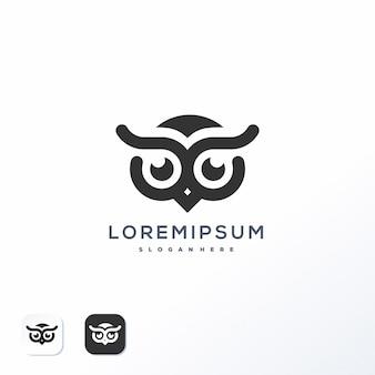 Modèle de logo de hibou