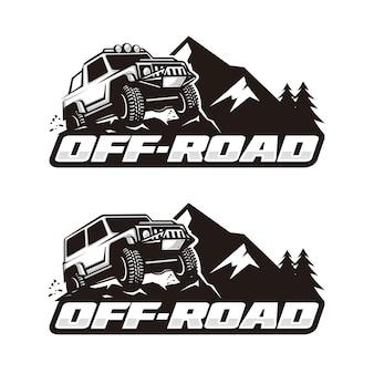 Modèle de logo hors route