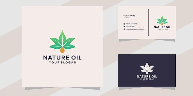 Modèle de logo d'huile de nature