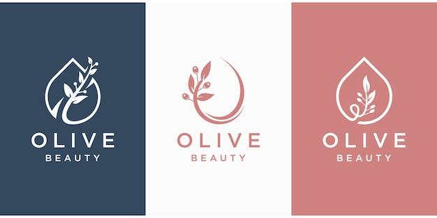 Modèle de logo d'huile d'olive