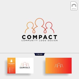 Modèle de logo humain communautaire