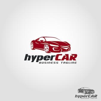 Modèle de logo hyper car