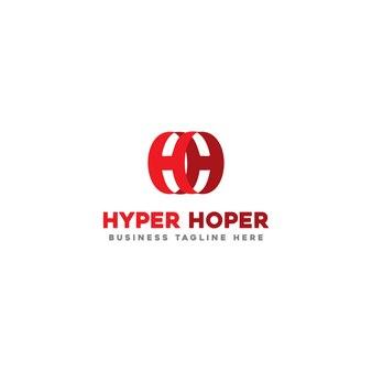 Modèle de logo hyper hoper