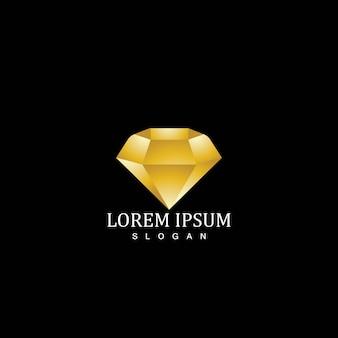 Modèle de logo icône diamant