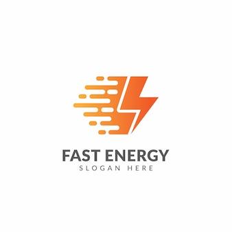 Modèle de logo ou d'icône d'énergie rapide
